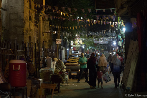 Evening walk through Hussein during Ramadan