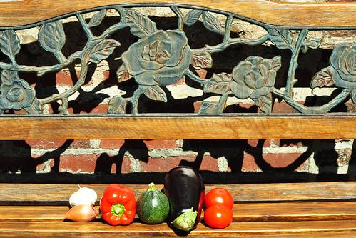 Normandie Karla Kunstwadl Ratatouille Gemüse schmoren Gemüsegericht Fraß Provence Rezept Tomate Aubergine Zucchino Zwiebel Knoblauch Paprika Kräuter Cidregesalzene Butter Algen