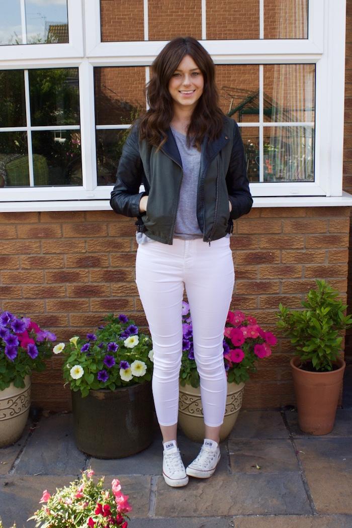 rachael white jeans