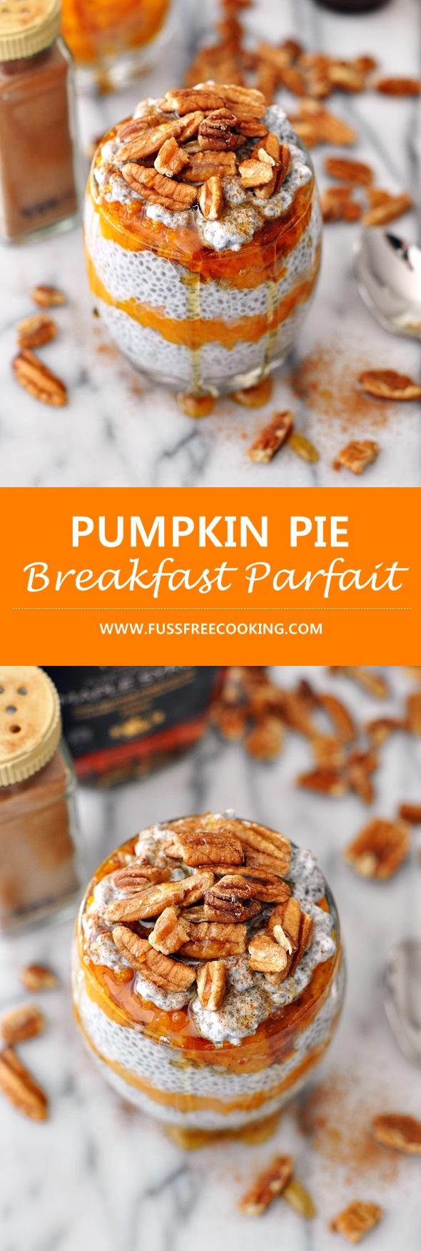 Pumpkin Pie Breakfast arfait | www.fussfreecooking.com