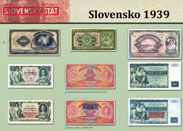Pretlač bankoviek Slovensko 1939
