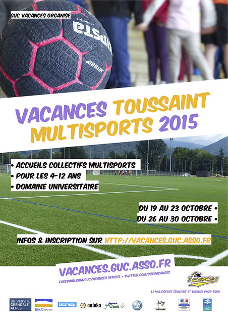 2015 • vacances toussaint multisports