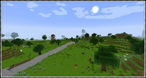 Minecraft LotR mod hobbits shire