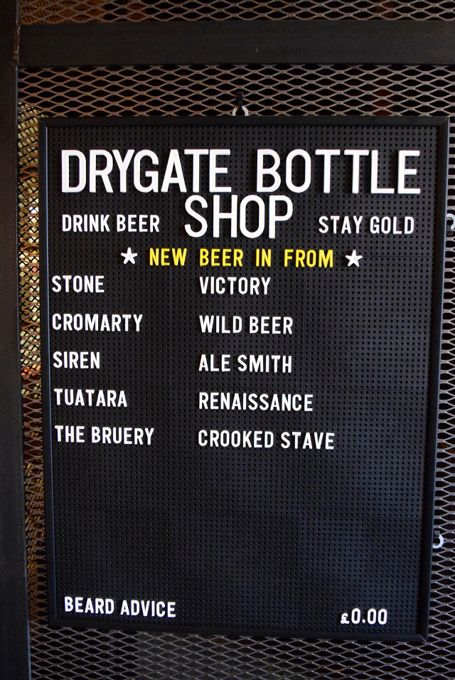 Drygate Bottle Shop at Drygate Brewery, Glasgow