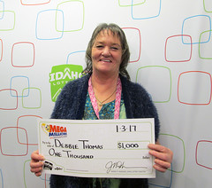 Debbie Thomas - $1,000 Mega Millions