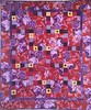 Feeling Fat? Give Yourself Big Purple Flowers 39x46 inch art quilt, 2016.