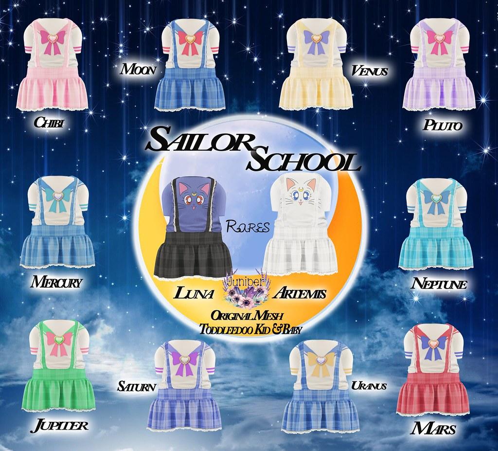 {Juniper} Sailor School Gacha  @ Color Me Cute - SecondLifeHub.com