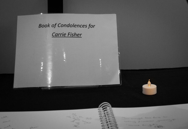 Book of condolences for Carrie Fisher