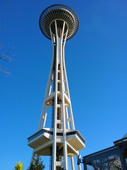 Space Needle on a beautiful February afternoon