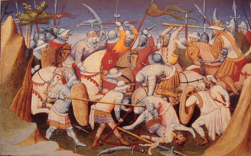 The Sultan of Adal and his troops battling King Yagbea-Sion during the Abyssinian-Adal War