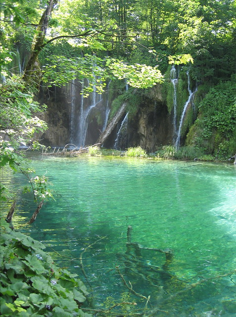 Plitvice waterfalls and pool