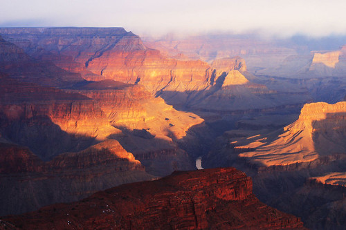 grand canyon morning glow