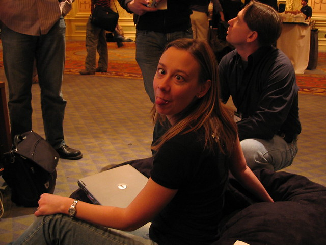 @DotBen captures @SpunkyGidget's true self. Vegas, Mix '06