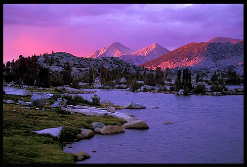 Marie Lake Evening, Hiking The John Muir Trail