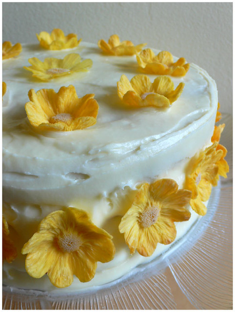 Hummingbird Cake with Dried Pineapple Flowers | A moist, spi ...