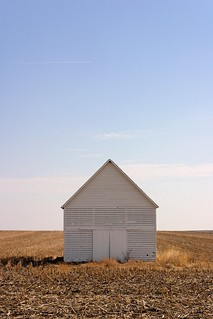 Untitled #1 [White Corn Crib, North elevation, West central Iowa]