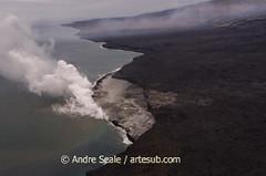 Aerial lava field