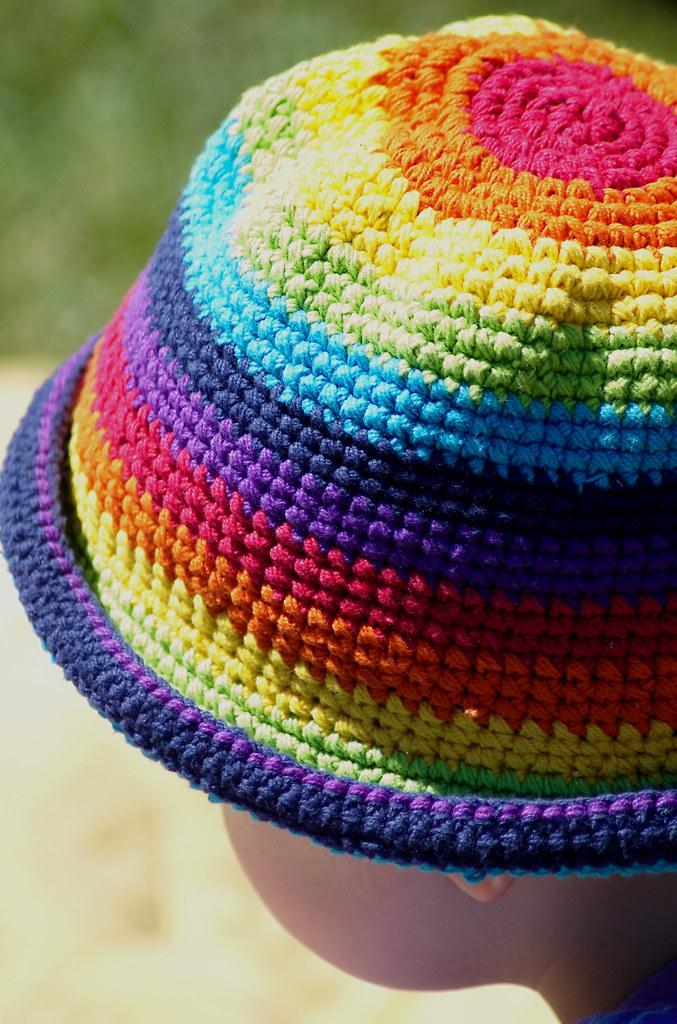 b561929a0d5 Rainbow Hat | At the Vancouver Folk Festival 2006, Jericho B… | Flickr