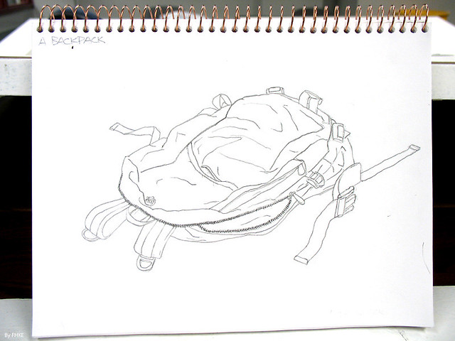 Contour Line Drawing App : Contour drawing backpack flickr photo sharing