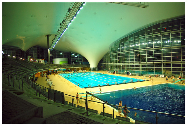 The Olympic Stadium In Munich Inside The Swimming Pool Flickr Photo Sharing