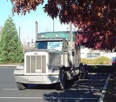 Truck in 3 parking spots