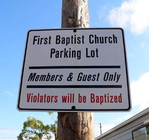Violators will be Baptized