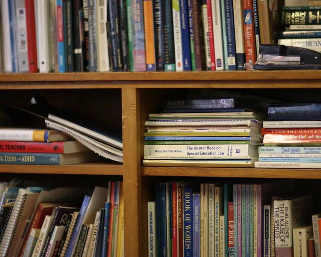 Anne's office bookshelf
