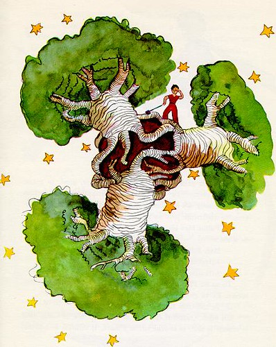 "Picture of baobab (one of the image from ""the little prince"" by Antoine De Saint-Exupery)"