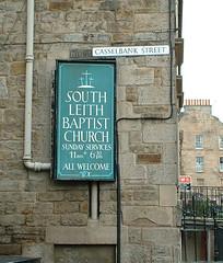 So Leith Baptist Church sign
