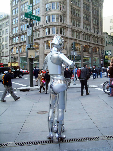 The Lonliest Cyborg in Union Square