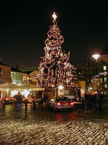 Santa's groto christmas tree