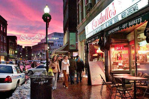 christmas travel winter cambridge sunset boston shopping landscape adventure sidewalk harvardsquare cardullos smallsize
