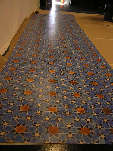 Used Auto Body Parts >> Nine Parts of Desire Stencil Floor in Process -- Red Stage | Flickr - Photo Sharing!