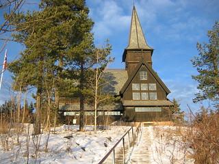 Stave church near Holmenkollen