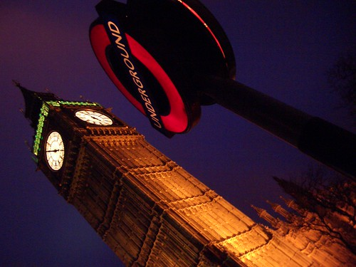 Tube Station and Big Ben by IainBuchanan