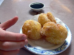 fried food, vegetarian food, baked goods, produce, food, dish, dessert, cuisine, beignet, snack food, fast food,