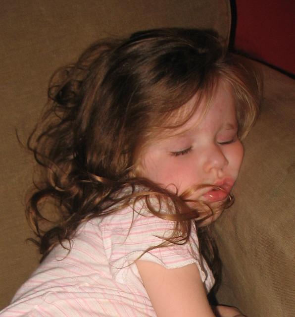 Sophie sleeping