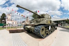Tank at Airbourne Museum Sainte Mere Eglise