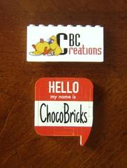 Lego Brick Badges