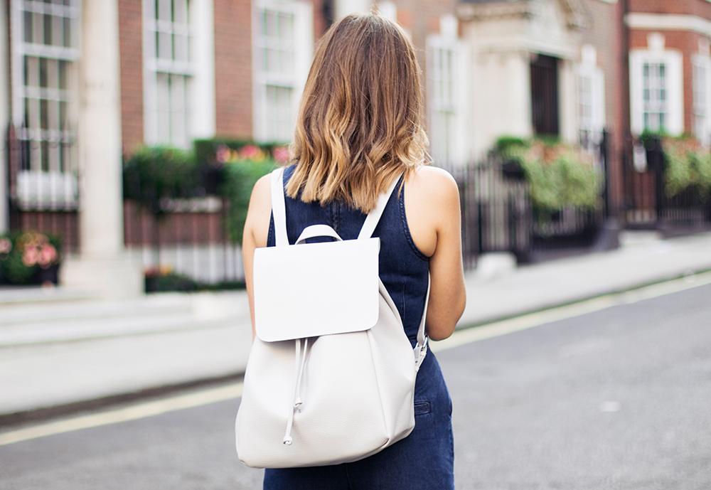 Zara grey backpack
