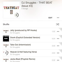 Taking a break from checking out #iOS 8.4, #AppleMusic, & #Beats1 on my drive home, to rock my personal favorite jam off @itsDJSnuggles' new project #THATBEAT3  http://bit.ly/THATBEAT3 (clickable link in my bio)    #heavenandhell