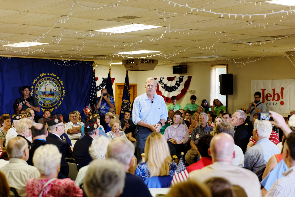 Governor of Florida Jeb Bush at VFW in Hudson, New Hampshire, July 8th, 2015 by Michael Vadon