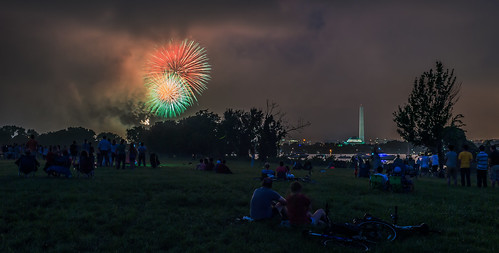 Washington July 4th Fireworks Celebration by Geoff Livingston