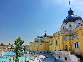 Image of Széchenyi thermal bath near Budapest XIII. kerület. hungary budapest széchenyithermalbath