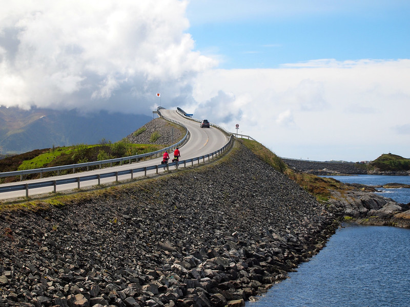 Storseisundet Bridge on the Atlantic Ocean Road in Norway