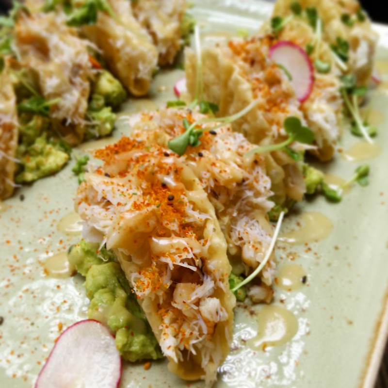 Dungeness crab tacos at Yew Restaurant - Best Bites of 2015 | packmeto.com