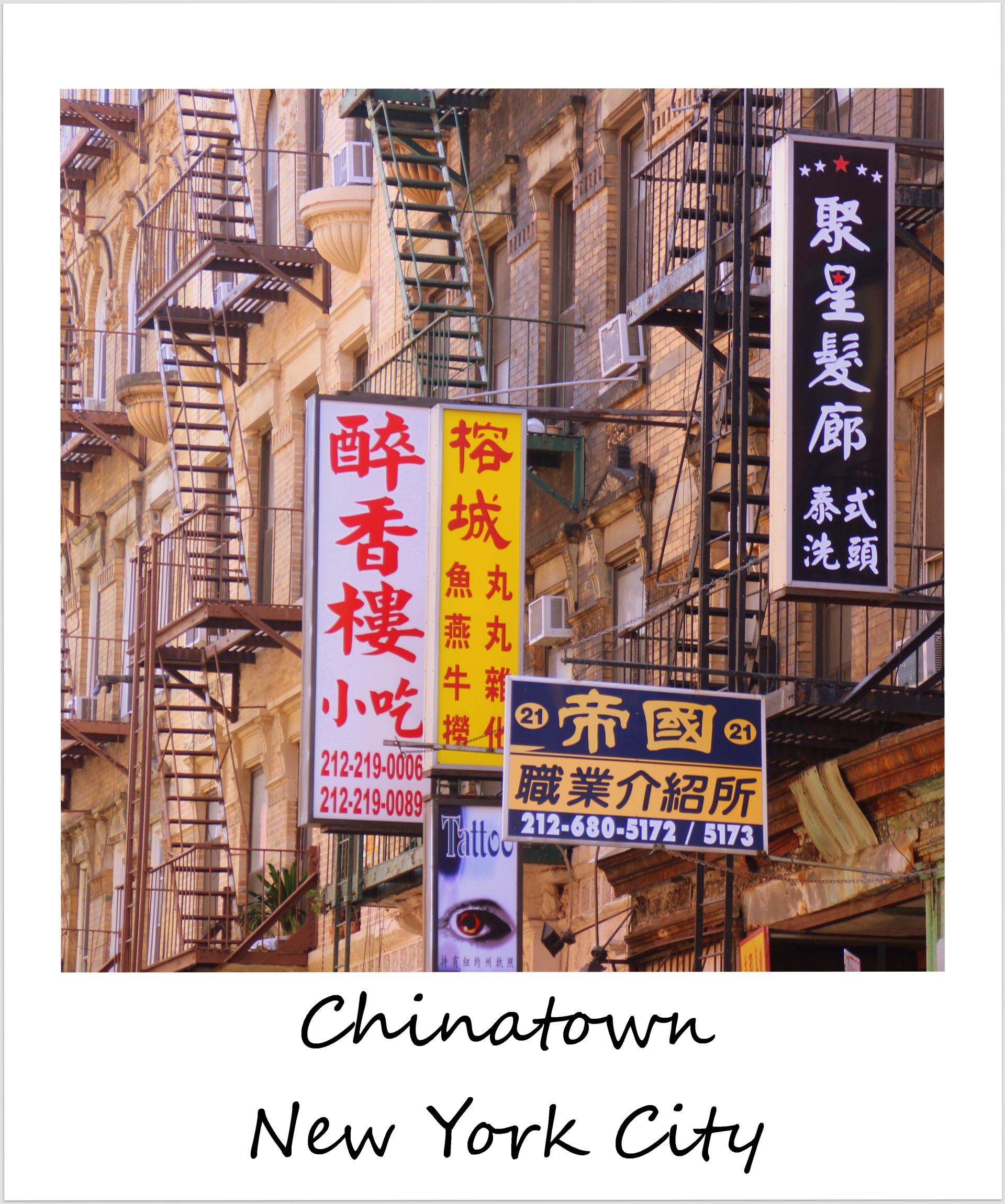 polaroid of the week usa new york city chinatown