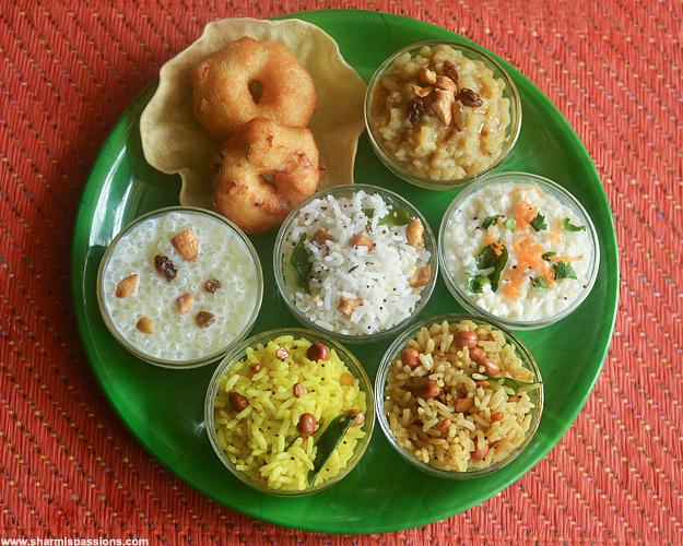 Aadi 18 recipes aadi perukku lunch menu sharmis passions aadi 18 lunch menu forumfinder Image collections