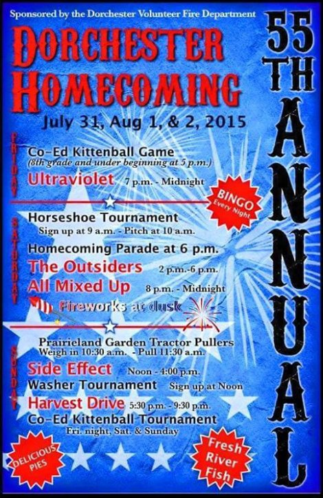 Dorchester Homecoming 7-31, 8-1, 8-2-15
