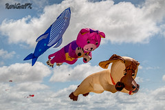 RamiGraFX posted a photo:Three of the many interesting kites being flown at the kite festival on  Lytham  beach
